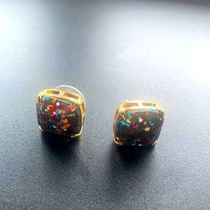 Kate spade confetti multi glitter stud earrings